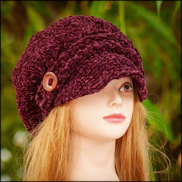 Rich Burgundy Poor Boy Hat(c)
