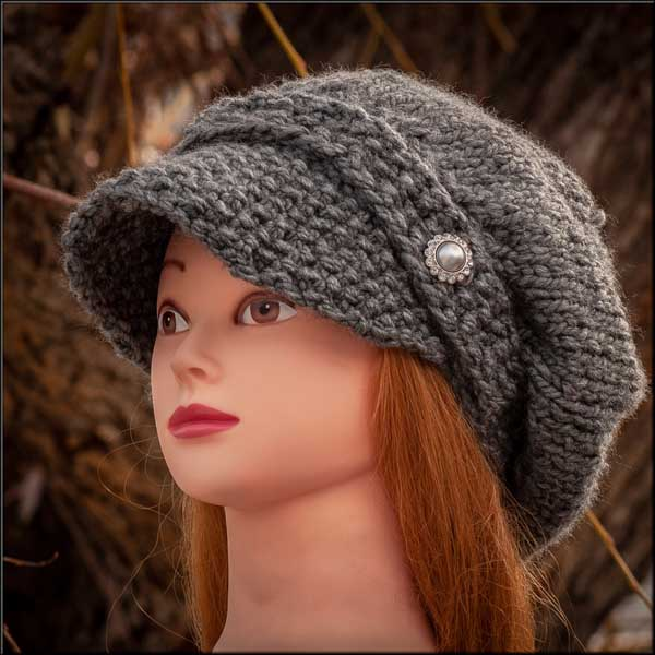 Steel Gray Poor Boy Hat